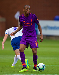 BIRKENHEAD, ENGLAND - Tuesday, July 10, 2018: Liverpool's new signing Fabio Henrique Tavares 'Fabinho' during a preseason friendly match between Tranmere Rovers FC and Liverpool FC at Prenton Park. (Pic by Paul Greenwood/Propaganda)