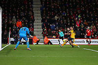 Football - 2016 / 2017 Premier League - AFC Bournemouth vs. Arsenal<br /> <br /> Bournemouth's Harry Arter forces Petr Cech of Arsenal into a fine save late on at Dean Court (The Vitality Stadium) Bournemouth<br /> <br /> COLORSPORT/SHAUN BOGGUST