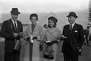 10/05/1965<br /> 05/10/1965<br /> 10 May 1965<br /> Left to right, Mr. Peter Young, Mrs. Peter Young, Miss Linda Murphy and Mr. Hugh Hamilton at the Leopardstown Races.