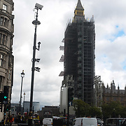The restoration of Big Ben is revealed all the way to the top. 5 October 2021.