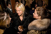 EUGENIE NIARCHOS, FIONA SCARRY AND ALLISON SAROFIN, Exhibition of work by Marc Newson at the Gagosian Gallery, Davies st. London. afterwards at Mr. Chow, Knightsbridge. 5 March 2008.  *** Local Caption *** -DO NOT ARCHIVE-© Copyright Photograph by Dafydd Jones. 248 Clapham Rd. London SW9 0PZ. Tel 0207 820 0771. www.dafjones.com.