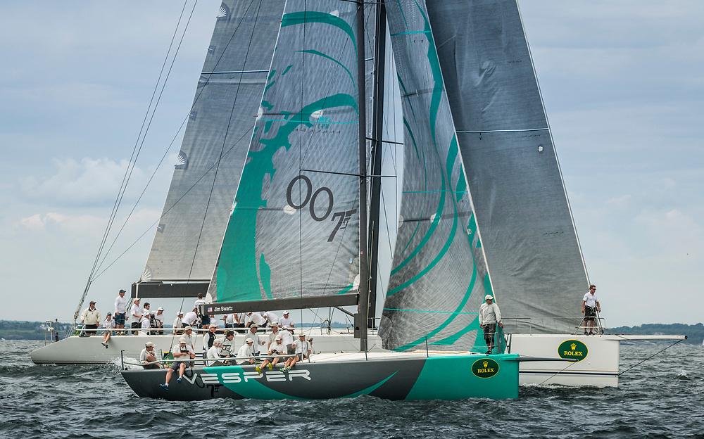VESPER, Sail Number: USA 52007, Owner/Skipper: Jim Swartz, Class: IRC 1, Yacht Type: TP 52, Home Port: Park City, UT, USA<br /> <br /> RAMBLER, Sail Number: USA 25555, Owner/Skipper: George David, Class: IRC 1, Yacht Type: RP 90 WB, Home Port: Farmington, CT, USA