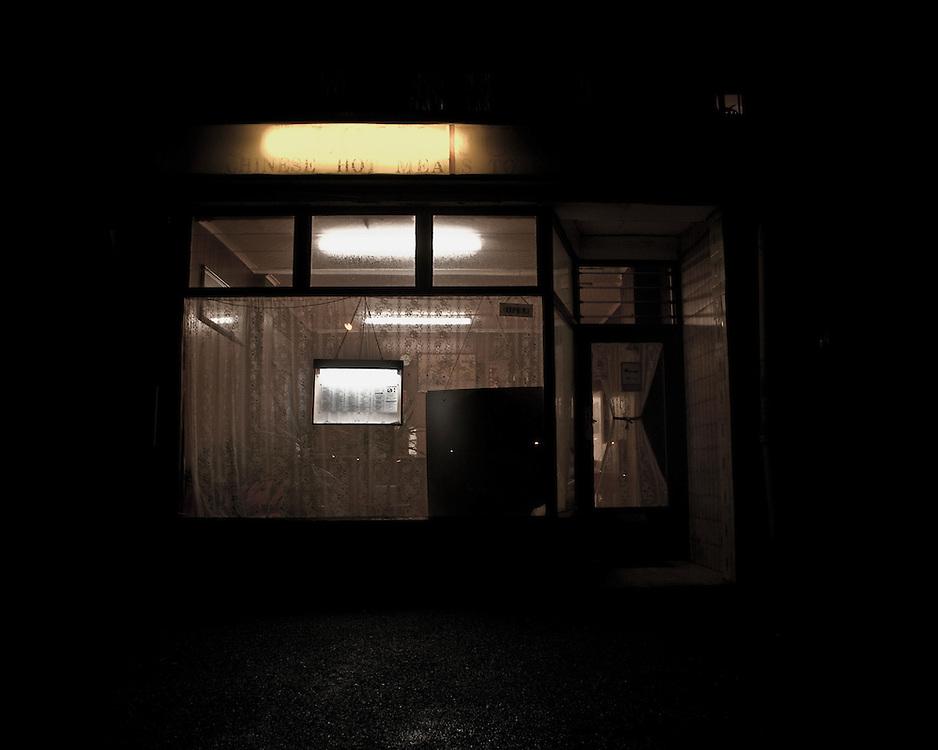Chinese take away at night
