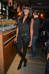 LORRAINE PASCALE at the launch of Korean restaurant Jinjuu with chef Judy Joo at 15 Kingley Street, London on 22nd January 2015.