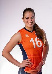 Jolijn de Haan of Netherlands, Photoshoot selection of Orange women's youth volleybal team season 2021on june 15, 2021 in Arnhem, Netherlands (Photo by RHF Agency/Ronald Hoogendoorn)