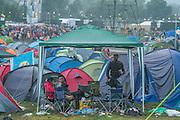 A gloomy and wet final evening - The 2016 Glastonbury Festival, Worthy Farm, Glastonbury.