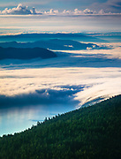 View from Mount Constitution in Moran State Park on Orcas Island