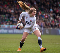 England Women's Zoe Harrisonin action during todays match<br /> <br /> Photographer Bob Bradford/CameraSport<br /> <br /> 2020 Women's Six Nations Championship - England v Wales - Saturday 7th March 2020 - The Stoop - London<br /> <br /> World Copyright © 2020 CameraSport. All rights reserved. 43 Linden Ave. Countesthorpe. Leicester. England. LE8 5PG - Tel: +44 (0) 116 277 4147 - admin@camerasport.com - www.camerasport.com