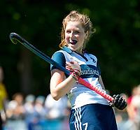 HUIZEN - Mascha Heemskerk (Huizen) bij de eerste play off wedstrijd voor promotie naar de hoofdklasse , Huizen-Nijmegen (3-2) COPYRIGHT KOEN SUYK