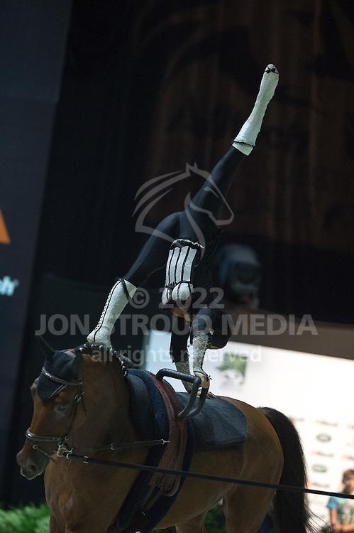 Maria Bonder, (Quintus de Mesille, Matthias Lang - Individuals Women Freestyle Vaulting - Alltech FEI World Equestrian Games™ 2014 - Normandy, France.<br /> © Hippo Foto Team - Jon Stroud<br /> 03/09/2014