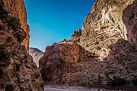 The towering cliffs of stunning Todra Gorge, Morocco.
