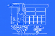 design of Thornycroft's Steam Van from the book ' Motor cars; or, Power carriages for common roads ' by Alexander James Wallis-Tayler,  Published in London, by Crosby Lockwood & son 1897