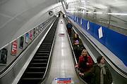 London tube station, subway escalator