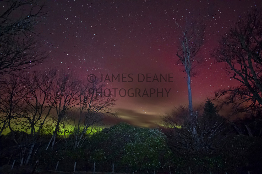 The Aurora seen from the Islay Show field near Islay House Square in Bridgend