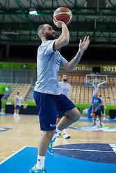 Vassilis Spanoulis of Greece at practice session of team Greece 1 day before the beginning of Eurobasket 2013 on September 3, 2013 in Arena Bonifika, Koper, Slovenia. (Photo by Matic Klansek Velej / Sportida.com)