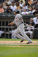 CHICAGO - JULY 27:  Jhonny Peralta #27 of the Detroit Tigers bats against the Chicago White Sox on July 27, 2011 at U.S. Cellular Field in Chicago, Illinois.  The White Sox defeated the Tigers 2-1.  (Photo by Ron Vesely)  Subject: Jhonny Peralta