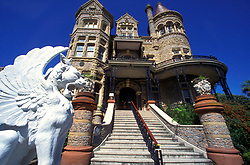 Historic architecture of Bishop's Palace in Galveston Texas