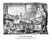 The British Character. A tendency to leave the washing-up till later