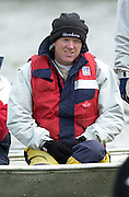 Peter Spurrier Sports  Photo<br />email pictures@rowingpics.com<br />Tel 44 (0) 7973 819 551<br /><br />Photo Peter Spurrier<br />27/03/2002<br />2002 Varsity Boat Race-Tideway week<br />Wed morning Blue Boat training session<br />CUBC Coach Martin McElroy 20020327 University Boat Race, [Varsity],  Tideway Week. Putney. London