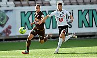 Fotball , 29. juli 2020 , Eliteserien  ,  Mjøndalen - Odd<br /> Fredrik Brustad , MIF<br /> Ödin Bjørtuft , Odd