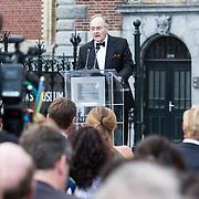 NLD/Amsterdam/20140613 - Prinses Beatrix bij de uitreiking van de Pritzker Achitecture Prize 2014, Chairman of the Pritzker Price Lord Peter Palumbo