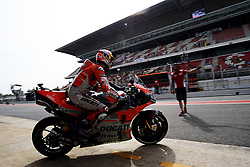 June 15, 2018 - Barcelona, Catalonia, Spain - Andrea Dovizioso (4) of Italy and Ducati Team during the free practice of the Gran Premi Monster Energy de Catalunya, Circuit of Catalunya, Montmelo, Spain.On 15 june of 2018. (Credit Image: © Jose Breton/NurPhoto via ZUMA Press)