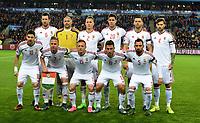 Fotball , 12. november 2014 ,<br /> Play-off , Norge - Ungarn<br /> EURO 2016 - Qualification: play-off<br /> Norway - Hungary 0-1<br /> team picture Hungary :<br /> Gabor Kiraly 1, Adam Lang 2, Tamas Kadar 4, Attila Fiola 5, Akos Elek 6, Balazs Dzsudzsak 7, Adam Szalai 9, Zoltan Gera 10 , Krisztian Nemeth 11, Laszlo Kleinheisler 15, Richard Guzmics 20