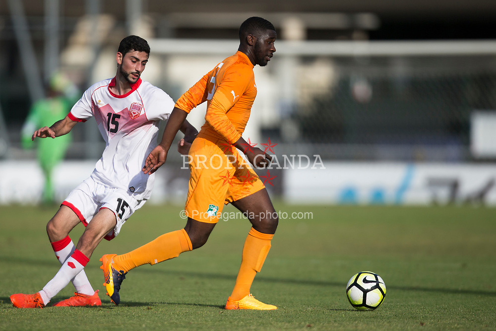 AUBAGNE, FRANCE - Tuesday, May 30, 2017: Ivory Coast's Bughammar Ahmed Mubarak in action during the Toulon Tournament Group B match between Bahrain and Ivory Coast at the Stade de Lattre-de-Tassigny. (Pic by Laura Malkin/Propaganda)
