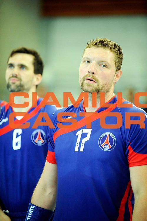 DESCRIZIONE : Handball Tournoi de Cesson Homme<br />GIOCATORE : PRAZNIK Rok<br />SQUADRA : Paris Handball<br />EVENTO : Tournoi de cesson<br />GARA : Paris Handball Selestat<br />DATA : 06 09 2012<br />CATEGORIA : Handball Homme<br />SPORT : Handball<br />AUTORE : JF Molliere <br />Galleria : France Hand 2012-2013 Action<br />Fotonotizia : Tournoi de Cesson Homme<br />Predefinita :