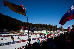 Finish area during Women 10 km Pursuit at day 3 of IBU Biathlon World Cup 2015/16 Pokljuka, on December 19, 2015 in Rudno polje, Pokljuka, Slovenia. Photo by Vid Ponikvar / Sportida