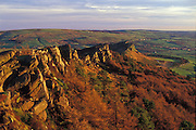 The Roaches, a spectacular gritstone escarpment in the Staffordshire Moorlands