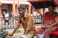 Riding in Rickshaw Jaipur, India
