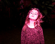 My daughter stands in my father in law's garden in Buenos Aires, Argentina on July 11, 2020. During lockdown she has grown a lot, turning into a kid that frequently demands to go to the nearby lagoon to watch the fish.