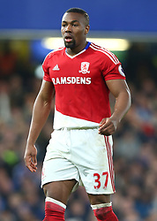May 8, 2017 - Chelsea, Greater London, United Kingdom - Adama Traore of Middlesbrough.during Premier League match between Chelsea and Middlesbrough at Stamford Bridge, London, England on 08 May 2017. (Credit Image: © Kieran Galvin/NurPhoto via ZUMA Press)