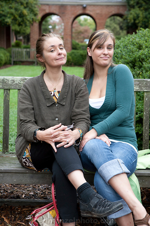 Emma D'Aluisio, 20, at Randolph College, Lynchburg, VA with her aunt, Faith D'Aluisio. MODEL RELEASED.