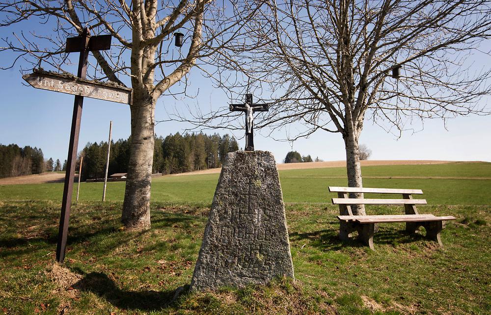 22.03.2020; Hartschwand (D); Kreuz in Hartschwand, Gemeinde Goerwihl<br /> (Steffen Schmidt)