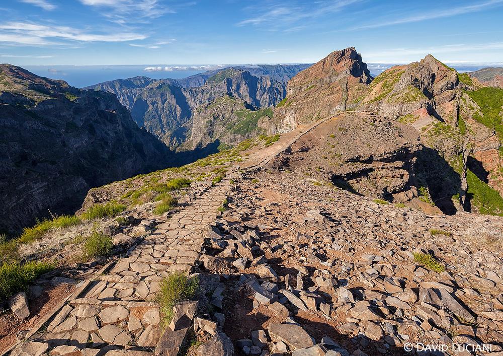With 1818m, Pico do Arieiro is Madeira's  third highest peak.
