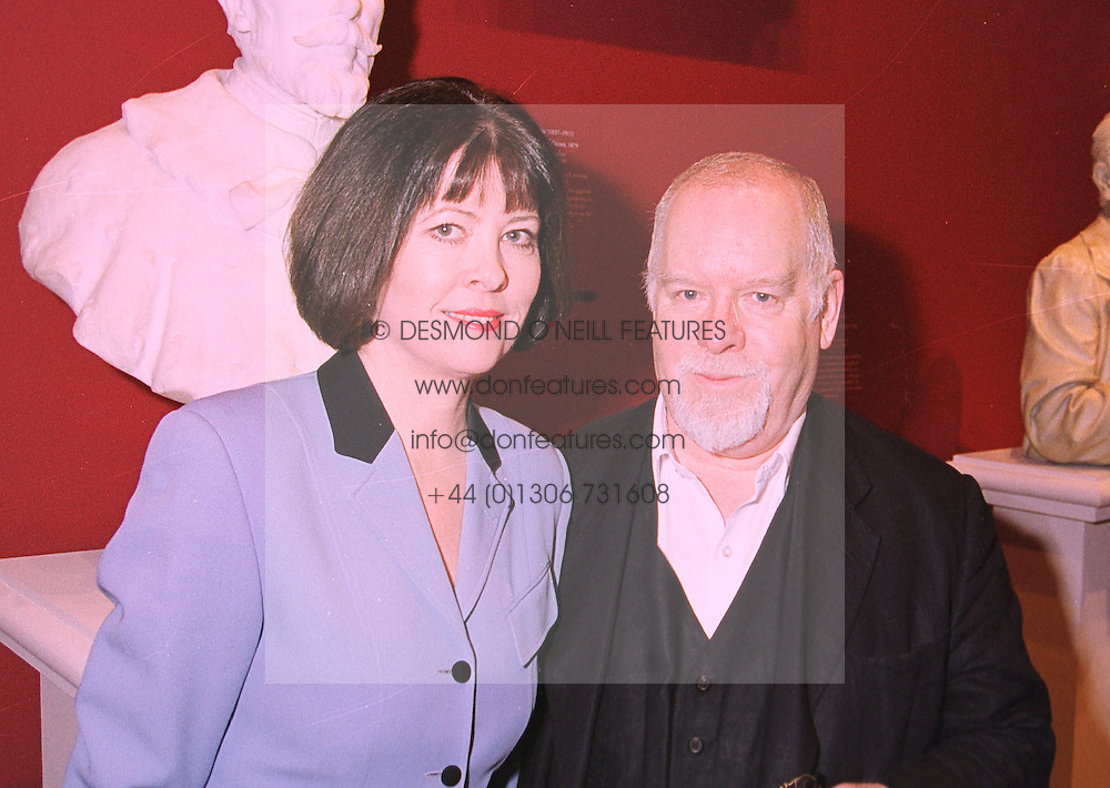 MR & MRS PETER BLAKE he is the painter, at an exhibition in London on 20th January 1998.MER 25