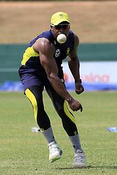 July 27, 2018 - Dambulla, Sri Lanka - South African cricketer Junior Dala during a practice session ahead of the 1st One Day International cricket match against Sri Lanka at Rangiri Dambulla International Stadium, Dambulla, Sri Lanka on Saturday 28 July 2018  (Credit Image: © Tharaka Basnayaka/NurPhoto via ZUMA Press)