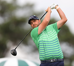 April 7, 2018 - Augusta, GA, USA - Marc Leishman hits from the 1st tee during the third round of the Masters Tournament on Saturday, April 7, 2018, at Augusta National Golf Club in Augusta, Ga. (Credit Image: © Curtis Compton/TNS via ZUMA Wire)