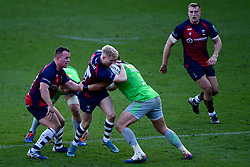 Mat Protheroe of Bristol Bears is tackled by Scott Baldwin of Harlequins  - Mandatory by-line: Ryan Hiscott/JMP - 08/03/2020 - RUGBY - Ashton Gate - Bristol, England - Bristol Bears v Harlequins - Gallagher Premiership Rugby