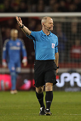 February 13, 2019 - Sheffield, South Yorkshire, United Kingdom - SHEFFIELD, UK 13TH FEBRUARY Referee Andy Woolmer  during the Sky Bet Championship match between Sheffield United and Middlesbrough at Bramall Lane, Sheffield on Wednesday 13th February 2019. (Credit: Mark Fletcher | MI News) (Credit Image: © Mi News/NurPhoto via ZUMA Press)