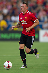 July 15, 2017 - Carson, California, U.S - Manchester United D Phil Jones (4) in action during the summer friendly between Manchester United and the Los Angeles Galaxy at the StubHub Center. (Credit Image: © Brandon Parry via ZUMA Wire)