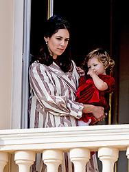 Tatiana Santo Domingo und Tochter India Casiraghi bei den Feierlichkeiten zum Nationalfeiertag in Monaco / 191116<br /> <br /> ***National Day in Monaco, November 19th, 2016***