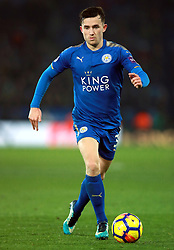 """Leicester City's Ben Chilwell during the Premier League match at the King Power Stadium, Leicester. PRESS ASSOCIATION Photo Picture date: Saturday December 2, 2017. See PA story SOCCER Leicester. Photo credit should read: Mike Egerton/PA Wire. RESTRICTIONS: EDITORIAL USE ONLY No use with unauthorised audio, video, data, fixture lists, club/league logos or """"live"""" services. Online in-match use limited to 75 images, no video emulation. No use in betting, games or single club/league/player publications."""