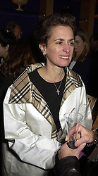 ROSE MARIE BRAVO Chief Executive of Burberry, at a reception in London on 26th September 2000.OHI 50