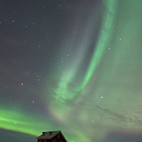 Northern Lights and Imagine Peace Tower