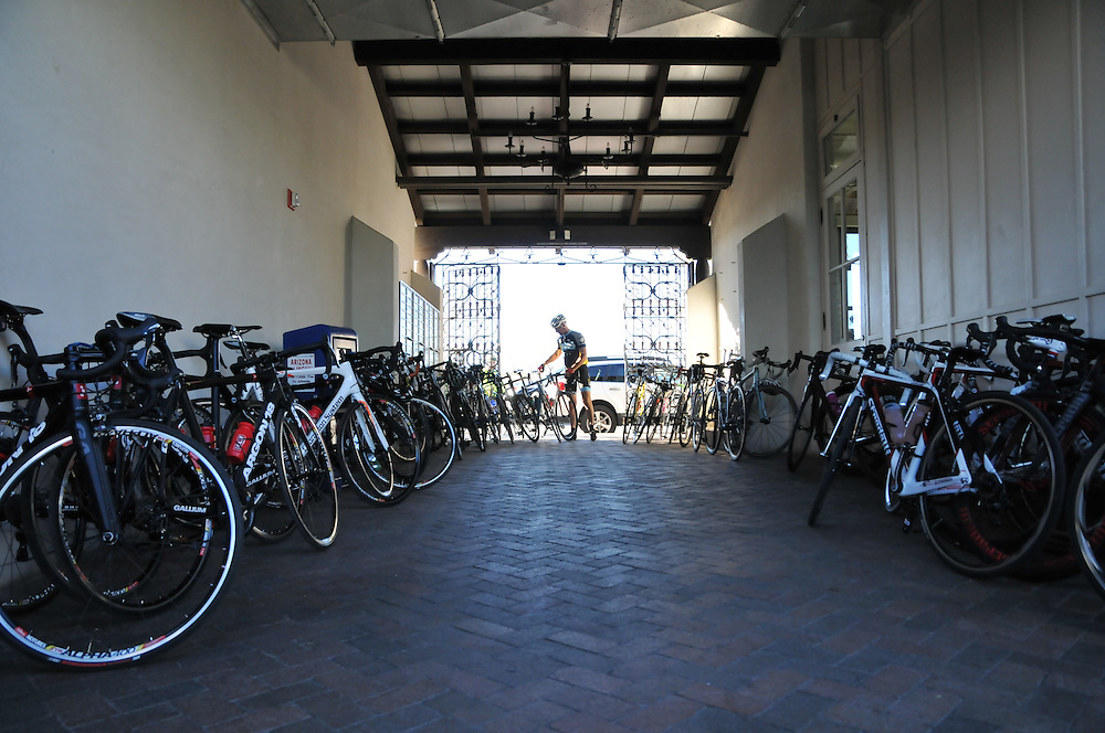 Bikes parked at Mercado San Augustin.