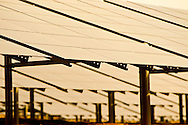 Rancho Seco, Herald, California, USA, 16th February 2010: Solar panels on the site of the Rancho Seco Nuclear power plant which was decomissioned in 1989 as a result of a public vote.  20 years on, the site is now home to a solar energy array and a 500MW natural gas power plant operated by the Sacramento Muncipal Utility District (SMUD)..Photo: Joseph Feil