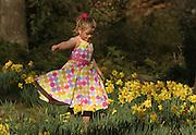 Child in daffodils.